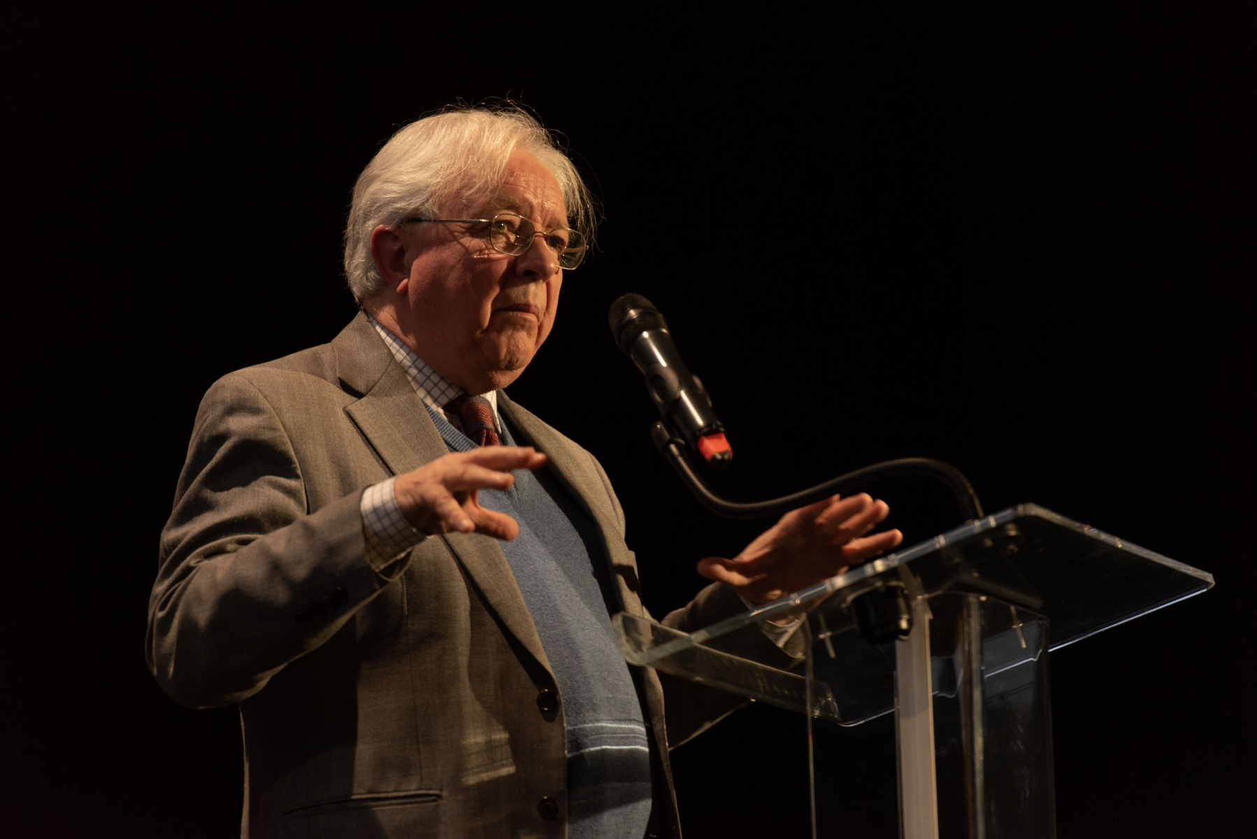 Hugh Macdonald at the Berlioz 150 Anniversary event